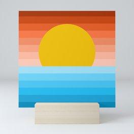 Minimal Sunset - Geometric Art Mini Art Print