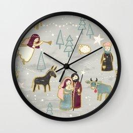 Nativity - the Birth of Jesus Wall Clock