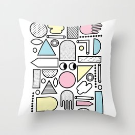 Shapes for Dayz Throw Pillow