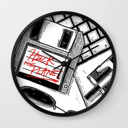 Hack the planet Wall Clock