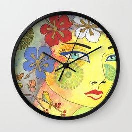 Insight of a woman Wall Clock