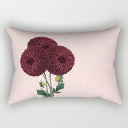 Dark red burnet flower on pink Rectangular Pillow