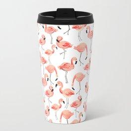Flamingo Party Travel Mug