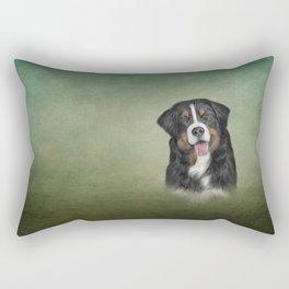 Drawing Bernese Mountain Dog Rectangular Pillow