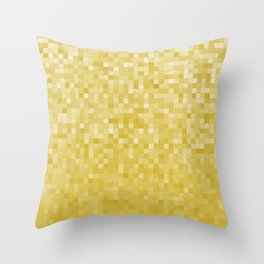 Pixels Gradient Pattern in Yellow Throw Pillow