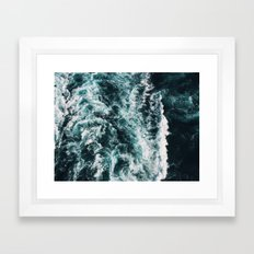 Green Seas, Yes Please Framed Art Print