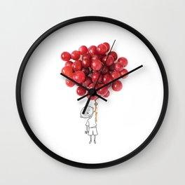 Boy with grapes - NatGeo version Wall Clock