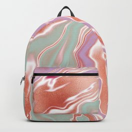 Rose Gold Mint Marble Backpack