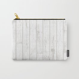 Wooden Planks - White Carry-All Pouch