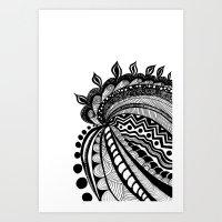 Doodling Art Print