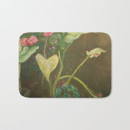 Lilly and Camelia pastel painting Bath Mat