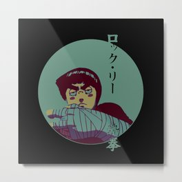 Rock Lee Endure Japanese Metal Print