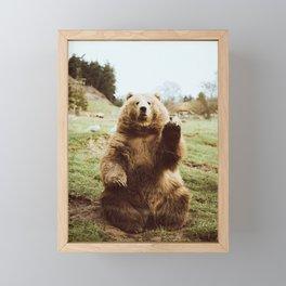 Hi Bear Framed Mini Art Print