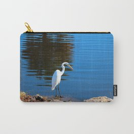 Egret At The Rocks Carry-All Pouch