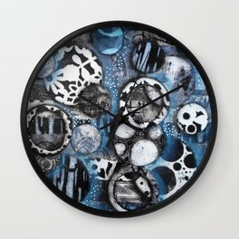 The Mick J - Black and White Circles Wall Clock