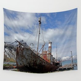 Whaling Ship Wall Tapestry