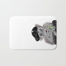 Monkey with beer Bath Mat