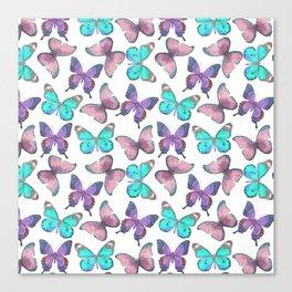 Flutter Butterfly Pattern Canvas Print