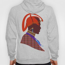 Kenya massai warrior digital art graphic design Hoody