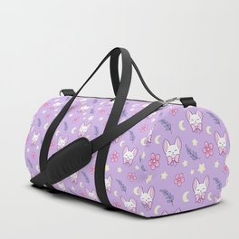 Sakura Cat // Purple Duffle Bag