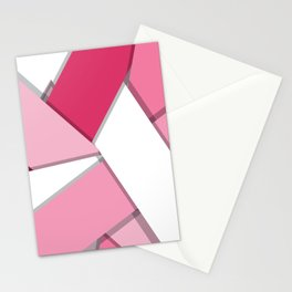 Flat Abstract Modern Design Vector Pattern breast cancer awareness  Stationery Cards