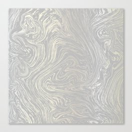 Grey Shimmer Marble Canvas Print