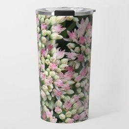 Mint Green and Blush Pink Sedum Travel Mug