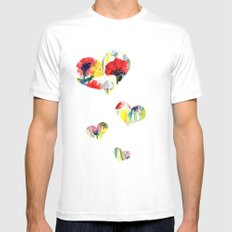 Poppy Floral White MEDIUM Mens Fitted Tee