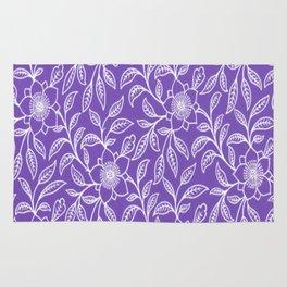 Vintage Lace Floral Purple Rug