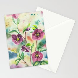 Lenten Roses - Watercolor Painting Stationery Cards