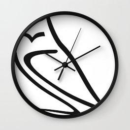 Vector Style Owl Wall Clock