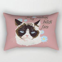 Resting Cat Face Rectangular Pillow