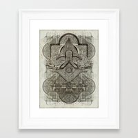 chakra Framed Art Prints featuring Second Chakra by Work the Angle