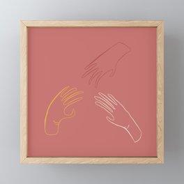 Hands Framed Mini Art Print