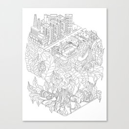 City and the junge Canvas Print