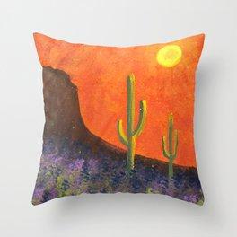Saguaro Sunset 2 Throw Pillow