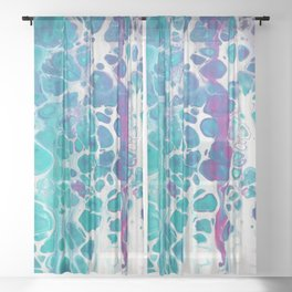 Marble Texture Surface 51 Sheer Curtain