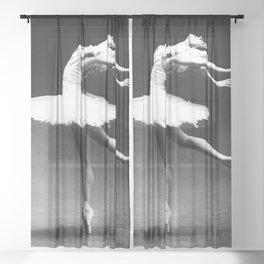 Swan Lake Ballet Magnificent Natalia Makarova black and white photograph  Sheer Curtain