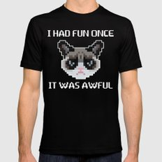 Grumpy cat Mens Fitted Tee Black LARGE
