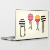 feet Laptop & iPad Skins featuring Dancing Feet by Cassia Beck