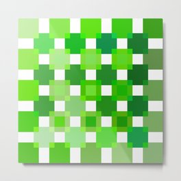 50 / 114 Squares of GREEN - Living Hell Metal Print
