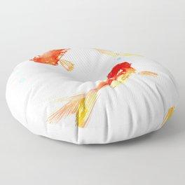 Goldfish, Two Koi Fish, Feng Shui, yoga Asian meditation design Floor Pillow