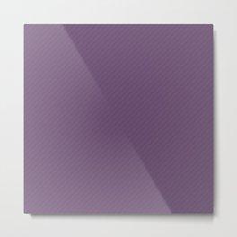 Classic | Purple Diagonal Stripe Metal Print