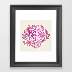 Be You-Tiful (pink edition) Framed Art Print