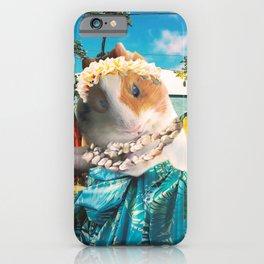 Aloha Guinea Pig On Hawaiian Beach iPhone Case