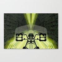 motorbike Canvas Prints featuring Futuristic Motorbike by Blue_Majesty