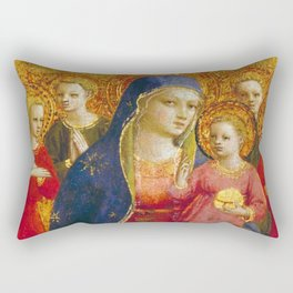 """Fra Angelico (Guido di Pietro) """"Madonna and Child with Angels"""" Rectangular Pillow"""