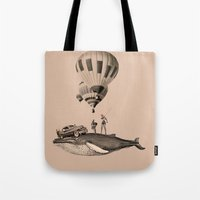 fig Tote Bags featuring fig.8 by TRASH RIOT