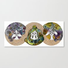 3wise girl Canvas Print