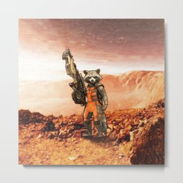 Rocket Raccoon Metal Print